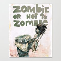 Zombie + Shakespeare Canvas Print