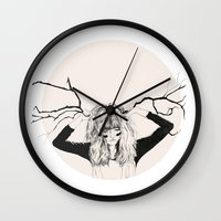 lady Wall Clocks featuring Lady by Thomas John Clegg