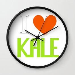 I Love Kale - Vegan & Vegetarian - Kale Love Wall Clock
