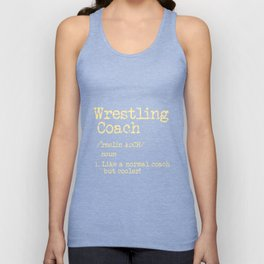 Wrestling Coach Gift I Greco Roman I Cool Definition Unisex Tank Top