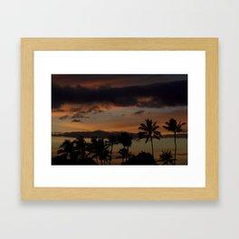 Oahu Palm Shadows Framed Art Print