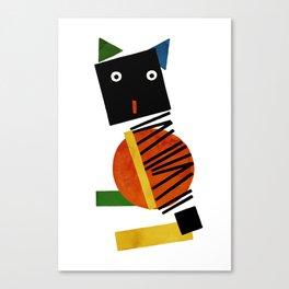 Black Square Cat - Suprematism Canvas Print