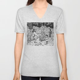 a Mage, a Wizard and a Sorcerer Unisex V-Neck