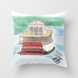 Riverboat - St. Paul Sights Throw Pillow
