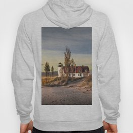 Point Betsie Lighthouse at Sunset Hoody