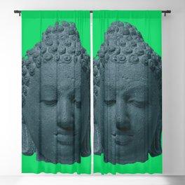 Head of Buddha Indonesia, Java, Sailendra Period, 9th Century early 800s 2 Blackout Curtain