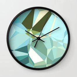 Polygon Sea Blues Wall Clock