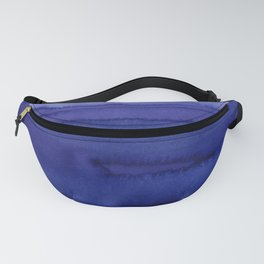 Blue Violet Watercolor Horizontal Stripes Abstract Fanny Pack
