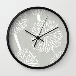 Pom Poms in Grey by Friztin Wall Clock