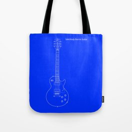 Solid Body Electric Guitar Blueprint Tote Bag