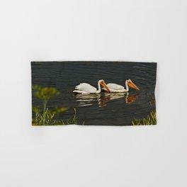 Pelicans in Edmonton - Hermitage Hand & Bath Towel