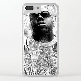 RIP BIGGIE (BLACK & WHITE VERSION) Clear iPhone Case