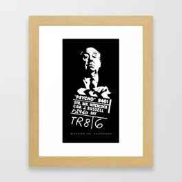 Alfred Hitchcock Master of Suspense Movie Psycho Framed Art Print