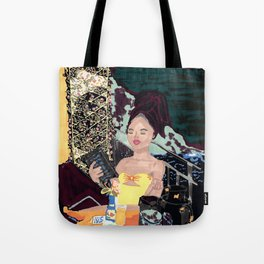 Lady with a view Tote Bag