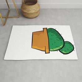Chubby Cactus Majeran illustration Rug