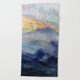 Mountain Sunrise Beach Towel