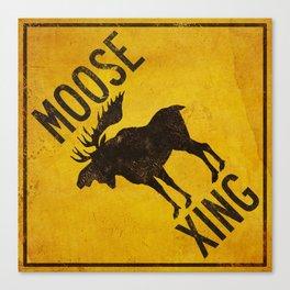 Moose Crossing XING Canvas Print