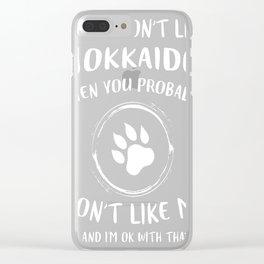 Hokkaido-tshirt,-i-like-my-Hokkaido Clear iPhone Case
