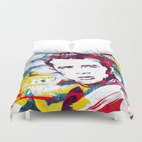 rebel Duvet Covers featuring Rebel by Paky Gagliano