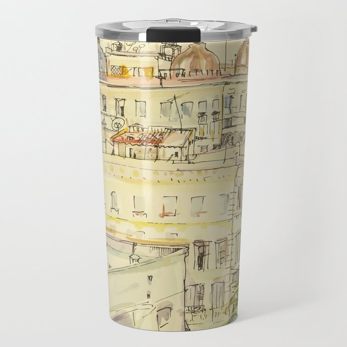 Casablanca with aquarelle and ink Travel Mug