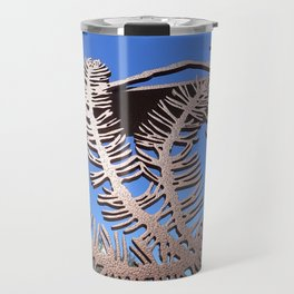 Pine branch blue skies Travel Mug