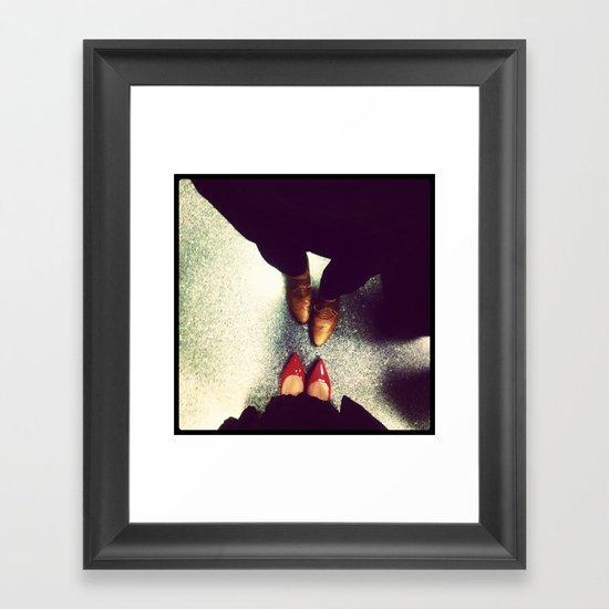 Travel Shoes Framed Art Print