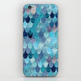 SUMMER MERMAID DARK TEAL iPhone Skin