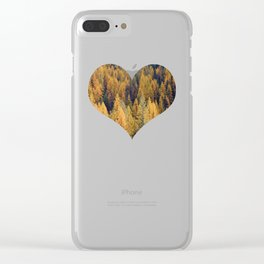 Autumn Tamarack Pine Trees Clear iPhone Case