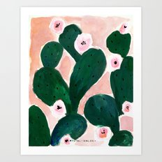 Cactus Bloom Art Print