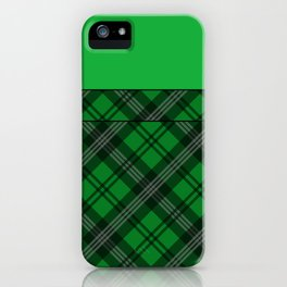 Scottish Plaid (Tartan) - Green iPhone Case
