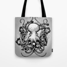 Octupus and COral (Black and White) Tote Bag