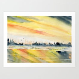Sunset Reflections Art Print