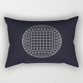 The Space Between the Lines Rectangular Pillow