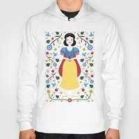 snow white Hoodies featuring Snow White  by Carly Watts
