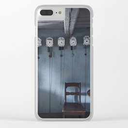 Time + Space Clear iPhone Case
