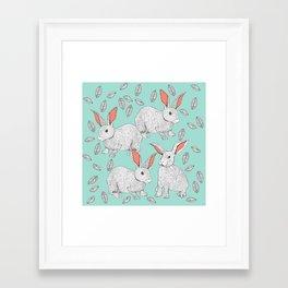Rabbit print Framed Art Print