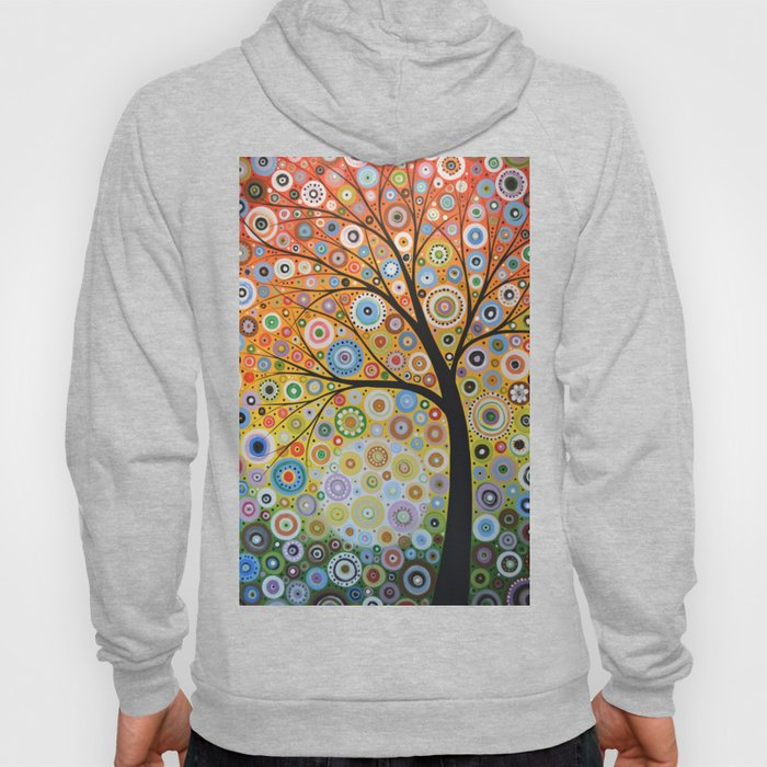 Abstract Art Original Landscape Painting ... Rays of Hope Hoody