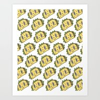 taco Art Prints featuring Taco Buddy by Frenemy