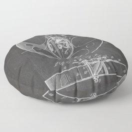 Film Reel Patent - Classic Cinema Art - Black Chalkboard Floor Pillow