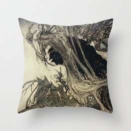 """Calling Shapes"" by Arthur Rackham Throw Pillow"