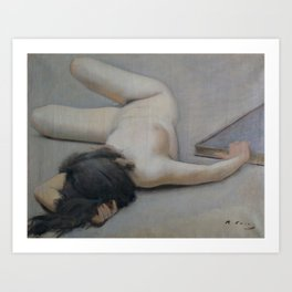 Ramon Casas - Female Nude Art Print