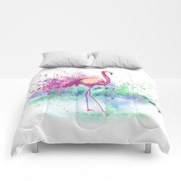 Messy Flamingo Comforters