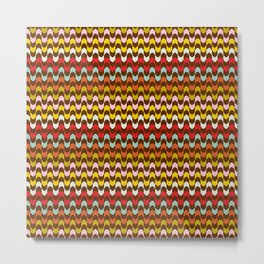 Mod Stripe Pattern Metal Print