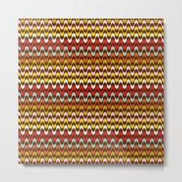 Mod Stripe Pattern Metal Print