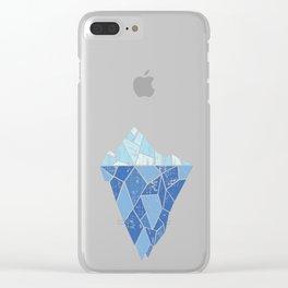 Ice Blue Iceberg Clear iPhone Case