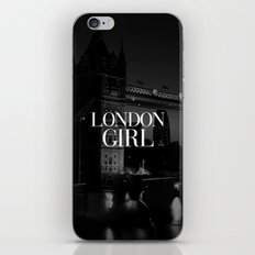 London Girl Black and White iPhone Case iPhone & iPod Skin