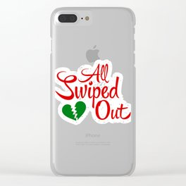 All Swiped Out Clear iPhone Case