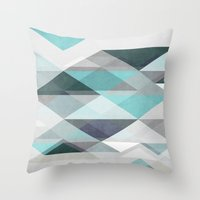 nordic Throw Pillows featuring Nordic Combination 1 X by Mareike Böhmer