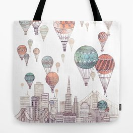 Voyages Over San Francisco ~ Refresh Tote Bag