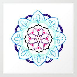 Mandala I - Colour Outline I Art Print